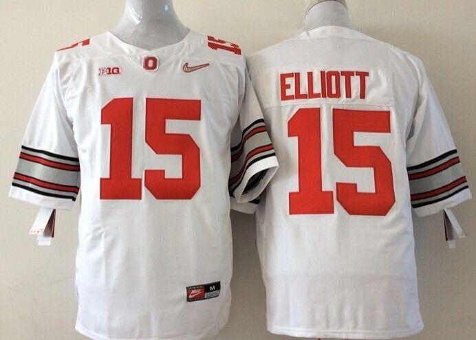 01945da55d9 Ohio State Buckeyes  15 Ezekiel Elliott White Sugar Bowl Special Event  Stitched