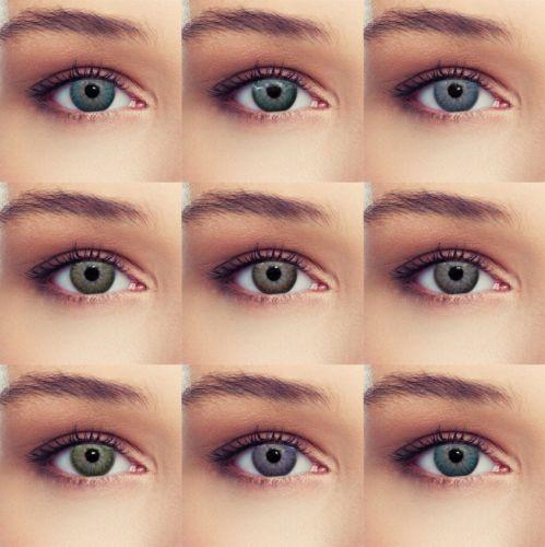 b60b9296a28e95 Natural True Color Contact Lenses-lens Lentilles -Blue-Green-Brown-Grey-Purple