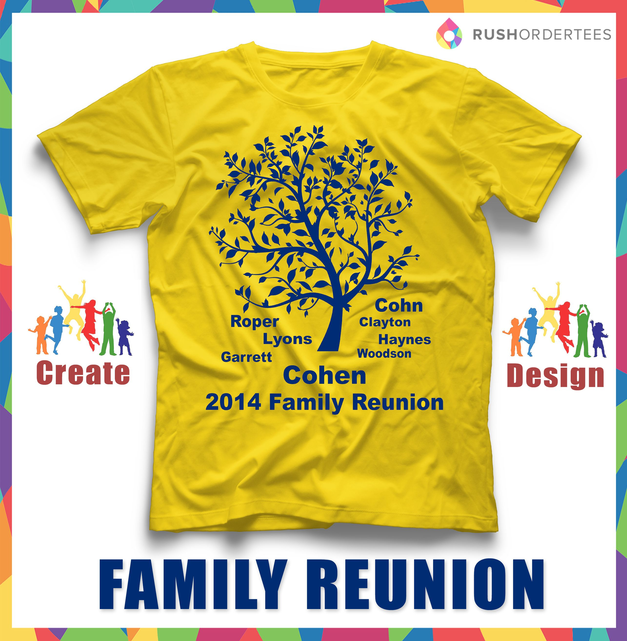 Family Reunion Shirt Design Ideas retro family tree t shirt design family reunion shirt design ideas Family Reunion T Shirt Ideas Create Your Custom Family Reunion T Shirt For