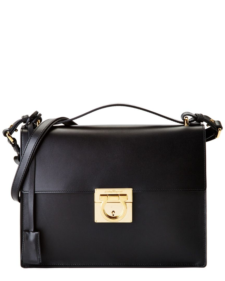 66efb36e96 Salvatore Ferragamo Gancio Lock Shoulder Bag is on Rue. Shop it now ...