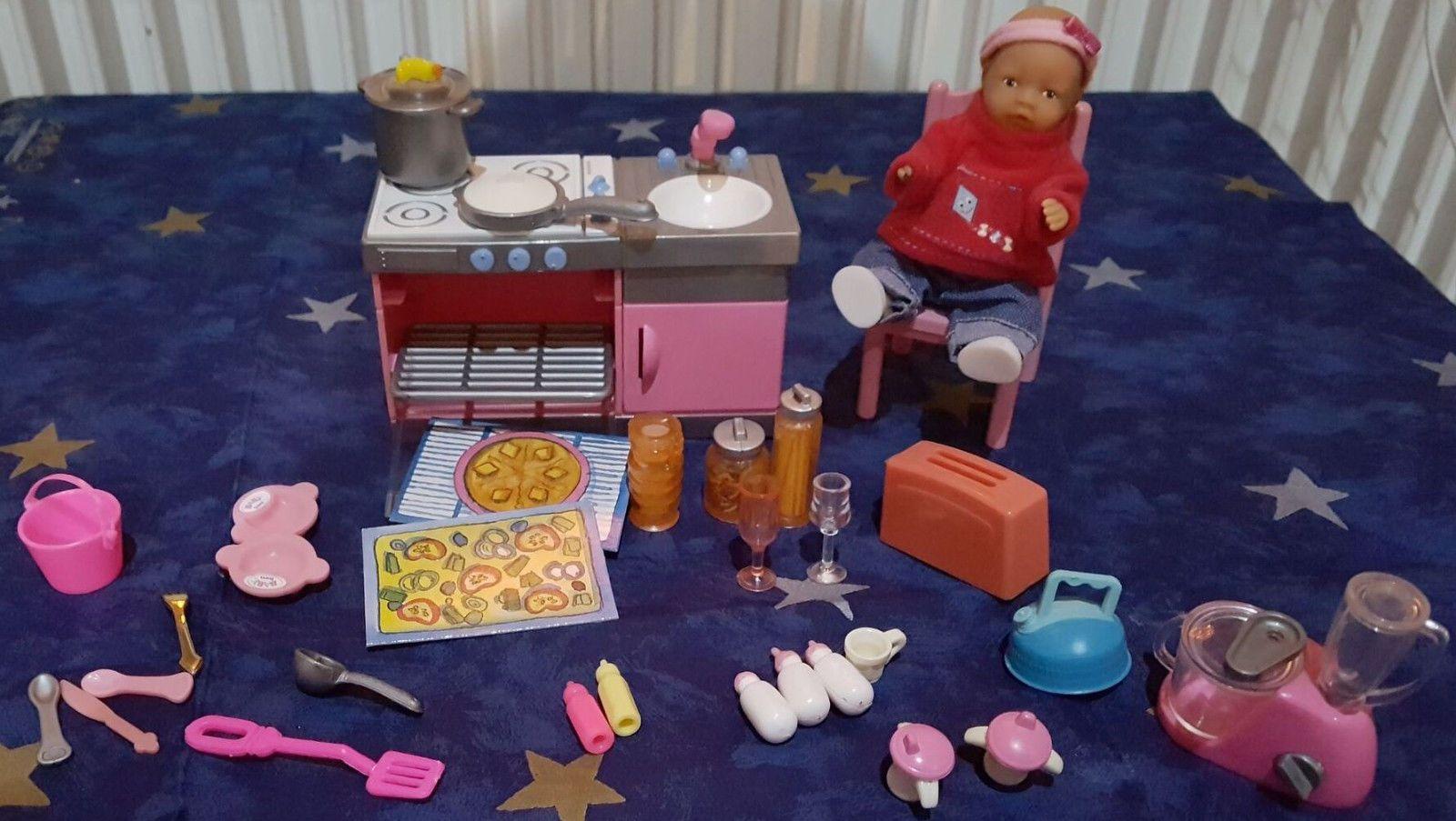 Baby Born miniworld / Zapf Creation Küche - Puppe + Zubehör ...