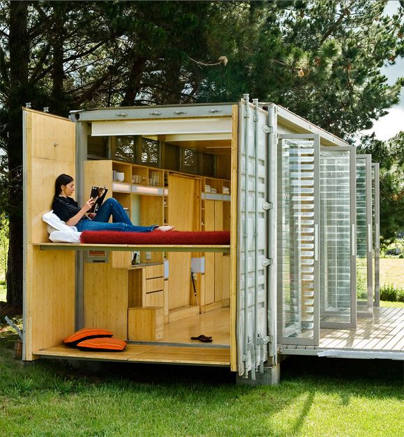 Port A Back Glamping In An Upcycled Container Tiny Home