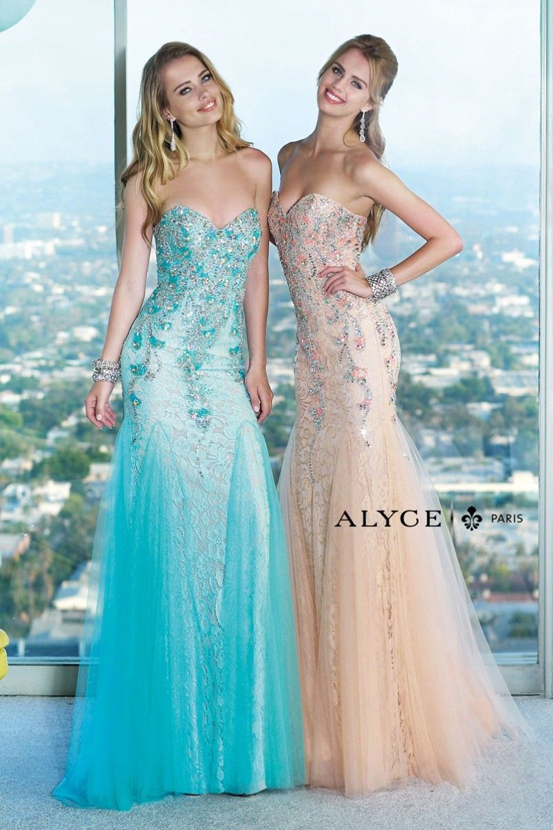 Alyce Paris | Prom Dress Style #6390 Side View Colors | prom ...