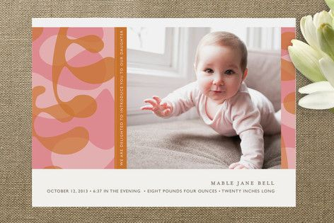 Mod Shapes Birth Announcements
