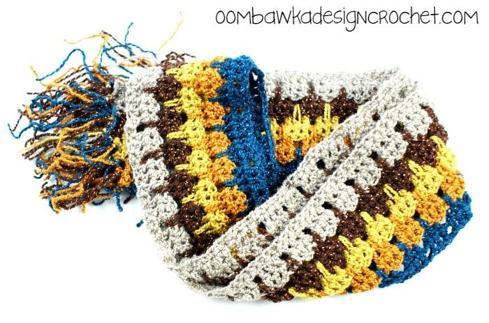 Little Bit of Bling Scarf Pattern | CROCHET | Pinterest