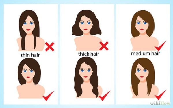 Hairstyles according to facial shapes