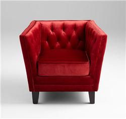 Red Prince Valiant Chair By Cyan Design