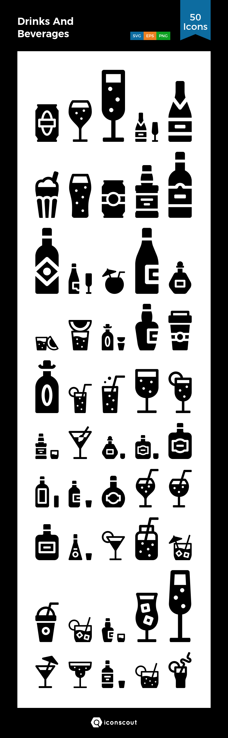 Download Drinks And Beverages Icon pack Available in SVG