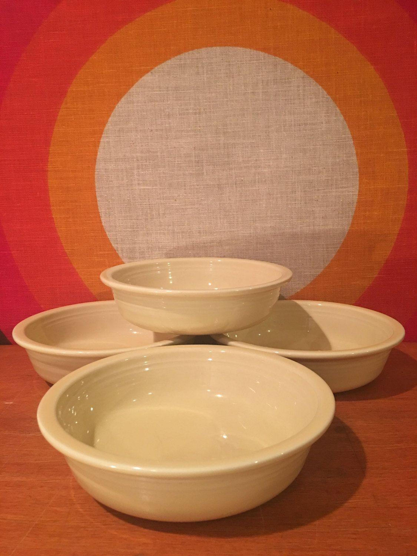 Vintage Fiesta Bowls Yellow Fiestaware Cereal Bowls Fiesta Salad Bowls Homer Laughlin Fiesta HLC Set of 4 Bowls & Vintage Fiesta Bowls Yellow Fiestaware Cereal Bowls Fiesta Salad ...