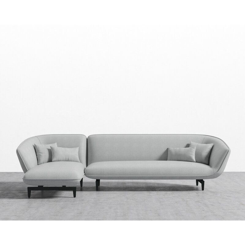 Aperol Sectional Allmodern In 2020 Modern Sectional Modular Sectional Sofa Sectional