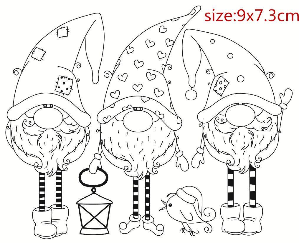 Kerstman Transparante Siliconen Rubber Stempel En Metalen Sterven Vel Cling Scrapbooking Diy Leuke Patroon Fotoalbum Stemp Patronen Kerstkleurplaten Postzegels