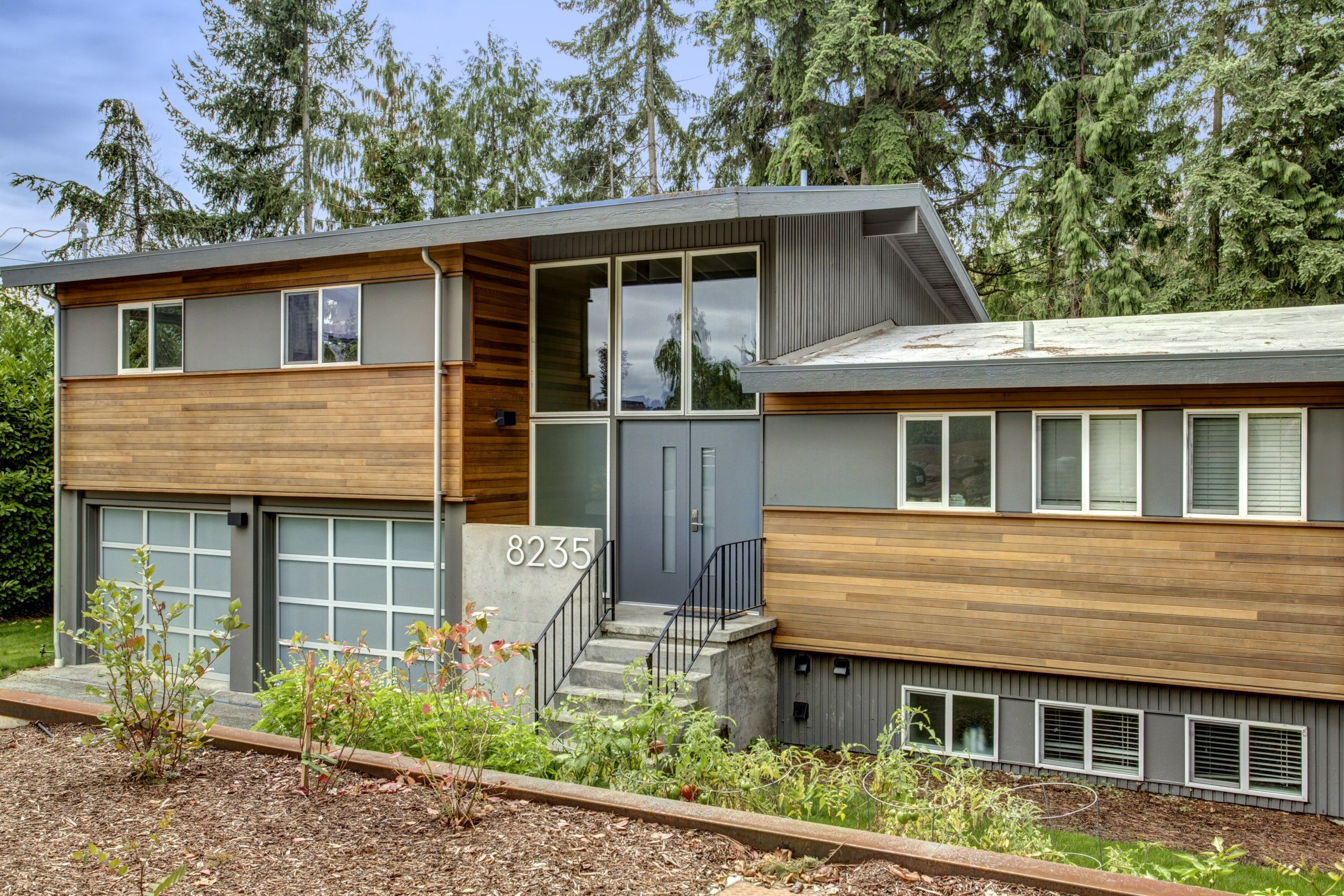 Slide 2 … | Split level remodel exterior, Home exterior ...