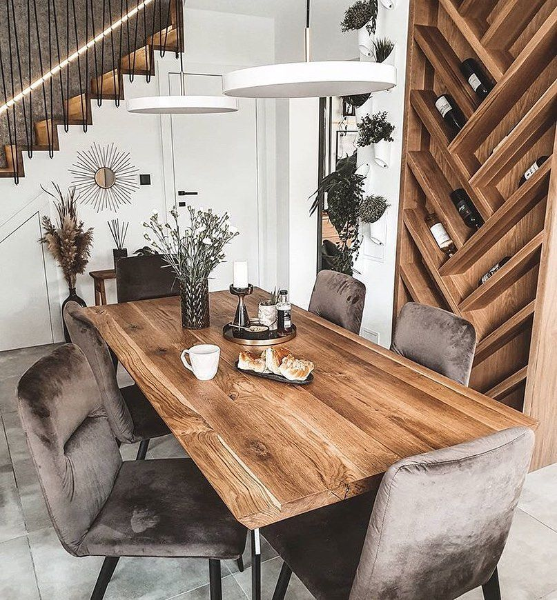 Living Inspiration On Instagram I Want That Wine Rack Credit Ann Living Diningroomst In 2020 Dining Room Style Rustic Dining Table Dining Room Design #wine #rack #in #living #room