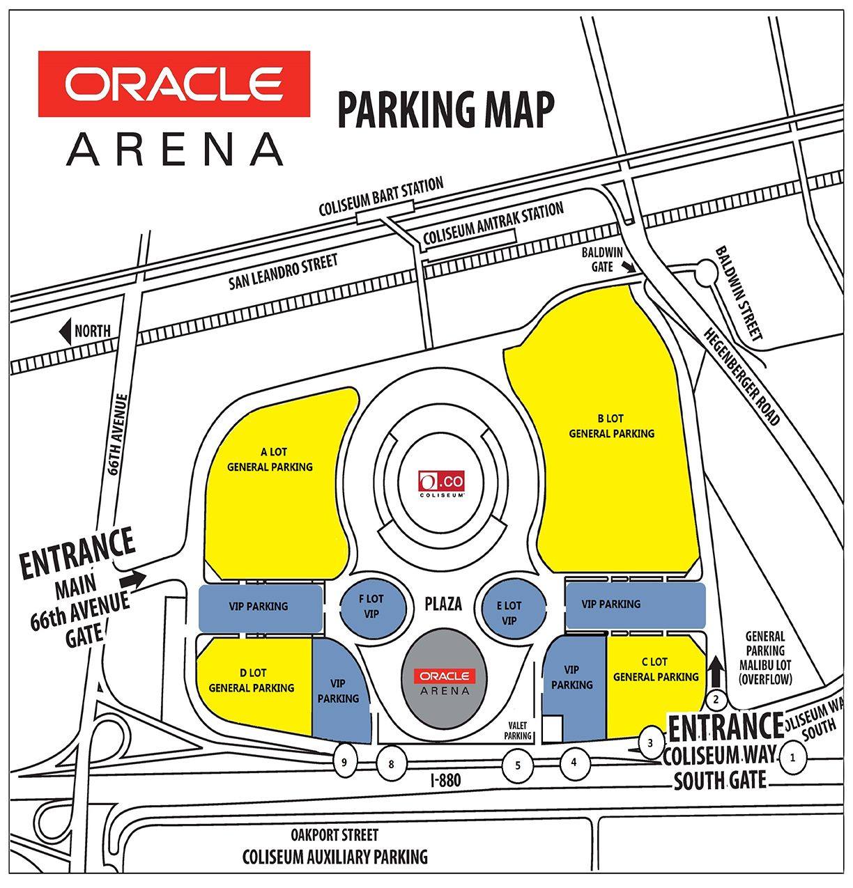 Oracle Arena Parking Map Warriors Game Seating Charts Game Arena Warriors Game