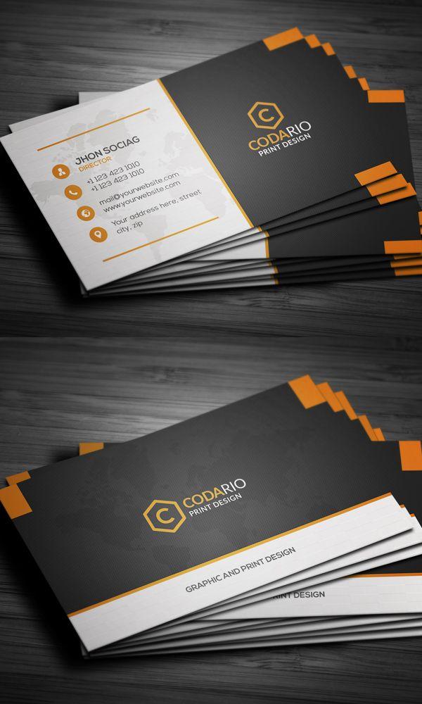 Modern Creative Business Cards | Nabil | Pinterest | Business cards ...