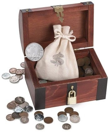 New York Times Treasure Chest With Historical Coins