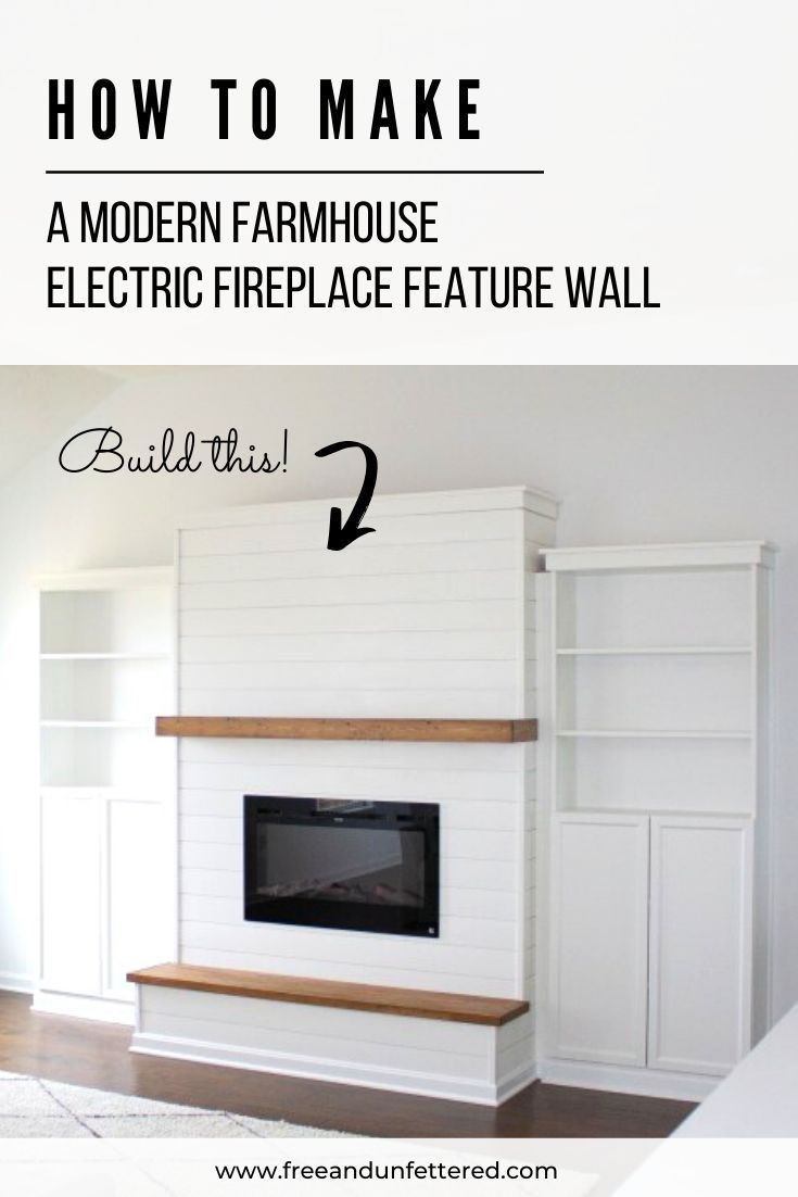 DIY: Electric Fireplace with Built-In Bookshelves