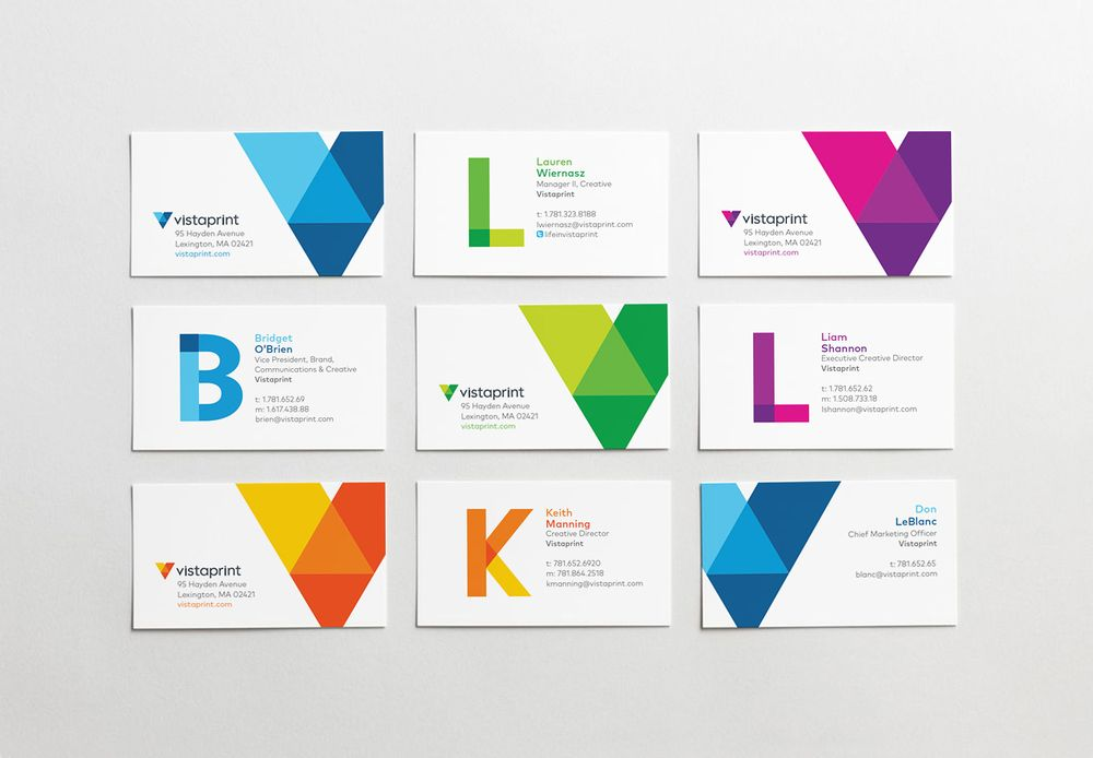 Vistaprint Business Cards Identity Design Visitenkarten