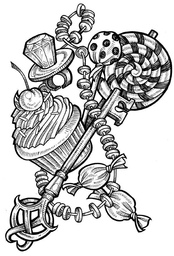 key number 6 by Phedre1985 on deviantART Girly skull