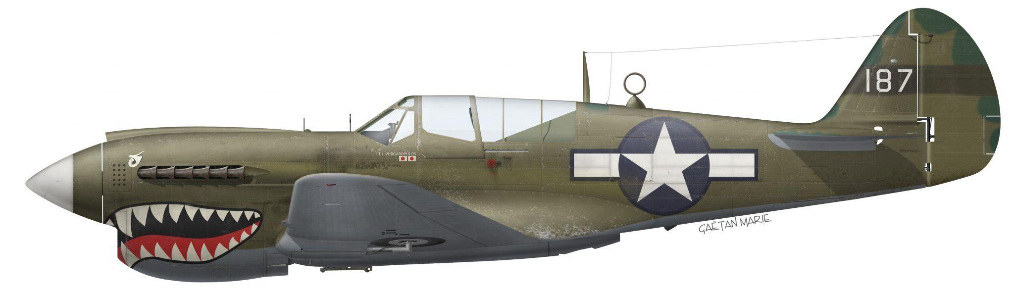 P-40N 42-10494 23rd FG 75th FS (Copyright Gaetan Marie ...  P-40N 42-10494 ...
