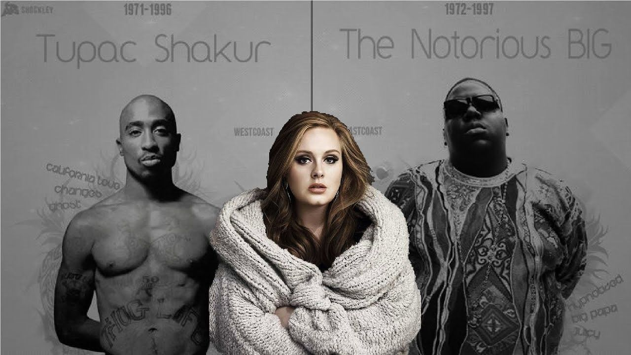 Adele Hello Feat Biggie Smalls 2pac 2018 Adele Hello 2pac