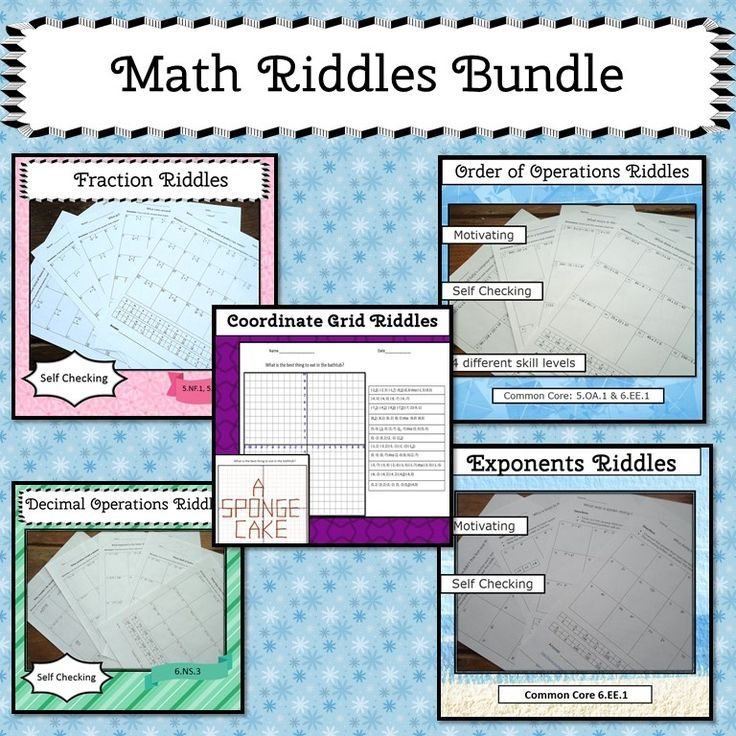 Math Riddles Bundle Math, Riddles, Order of operations
