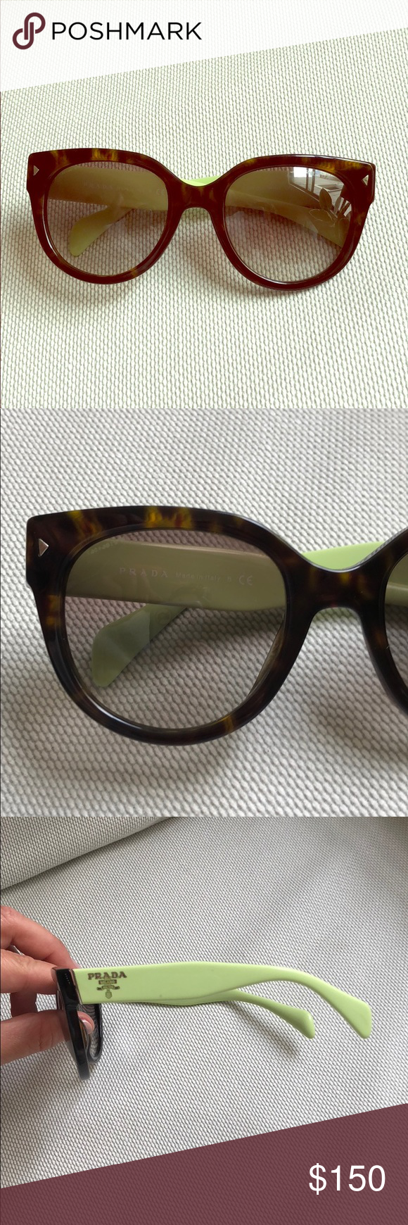 72c63e18462e0 Prada SPR 170 cat eye sunglasses Only worn a few times