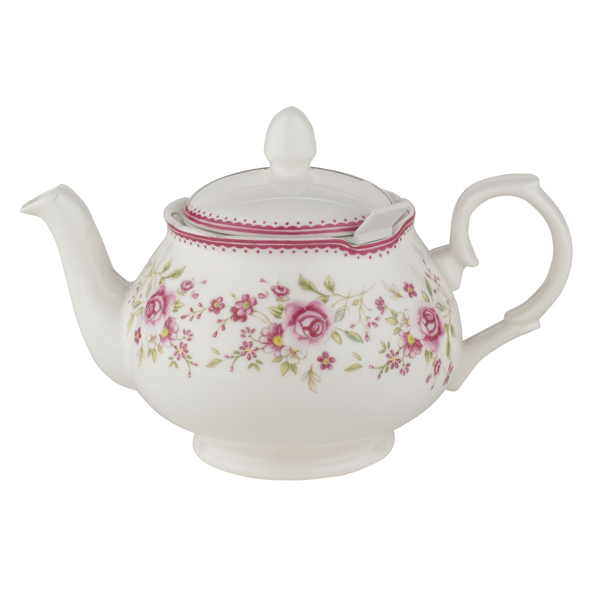 Vintage Rose 2 Cup Chatsford Filter Teapot Teapots