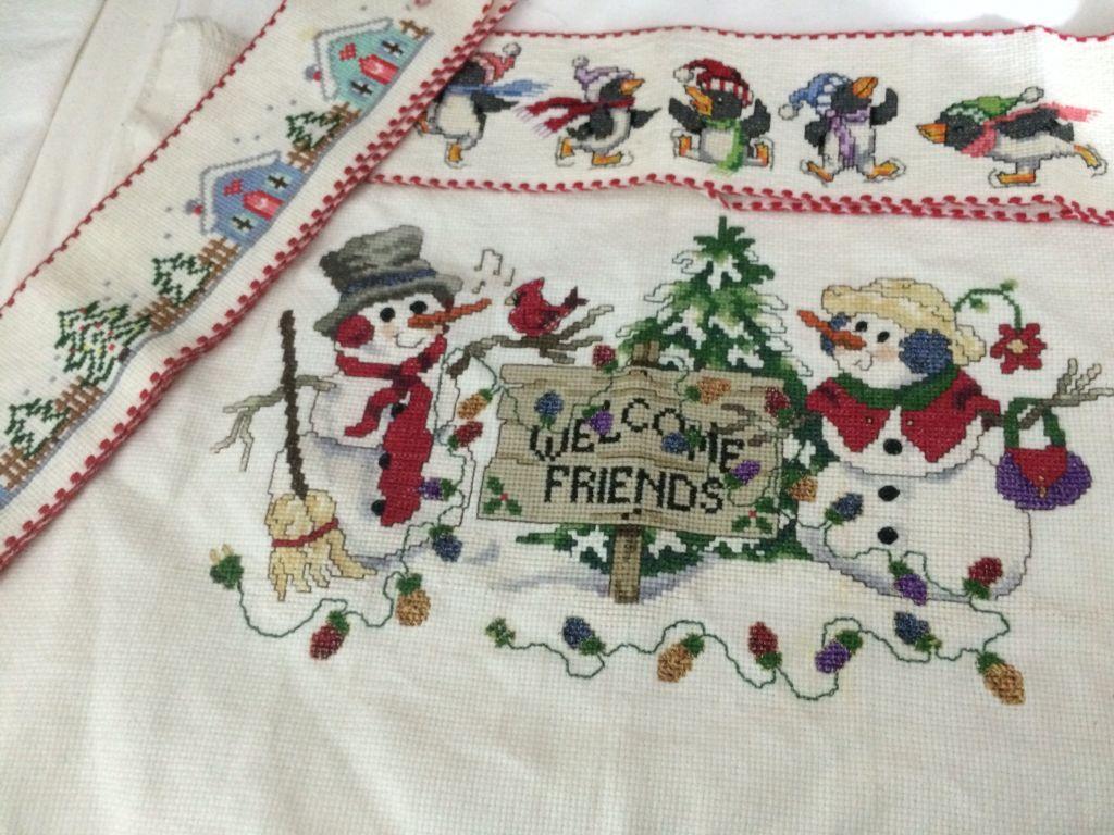 Cuadro listo para enmarcarse y cenefas con motivos navideños para ...