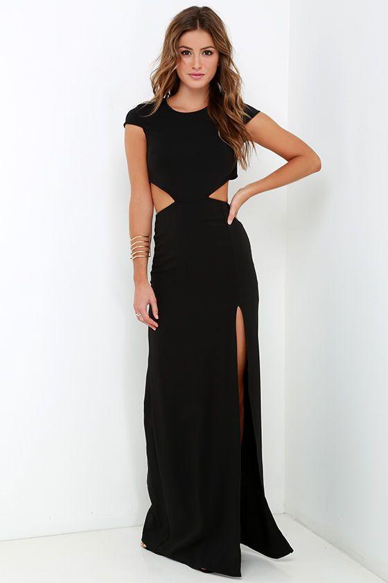 7c2f954b2014b Sexy Black Dress - Maxi Dress - Cutout Dress - Backless Dress -  68.00