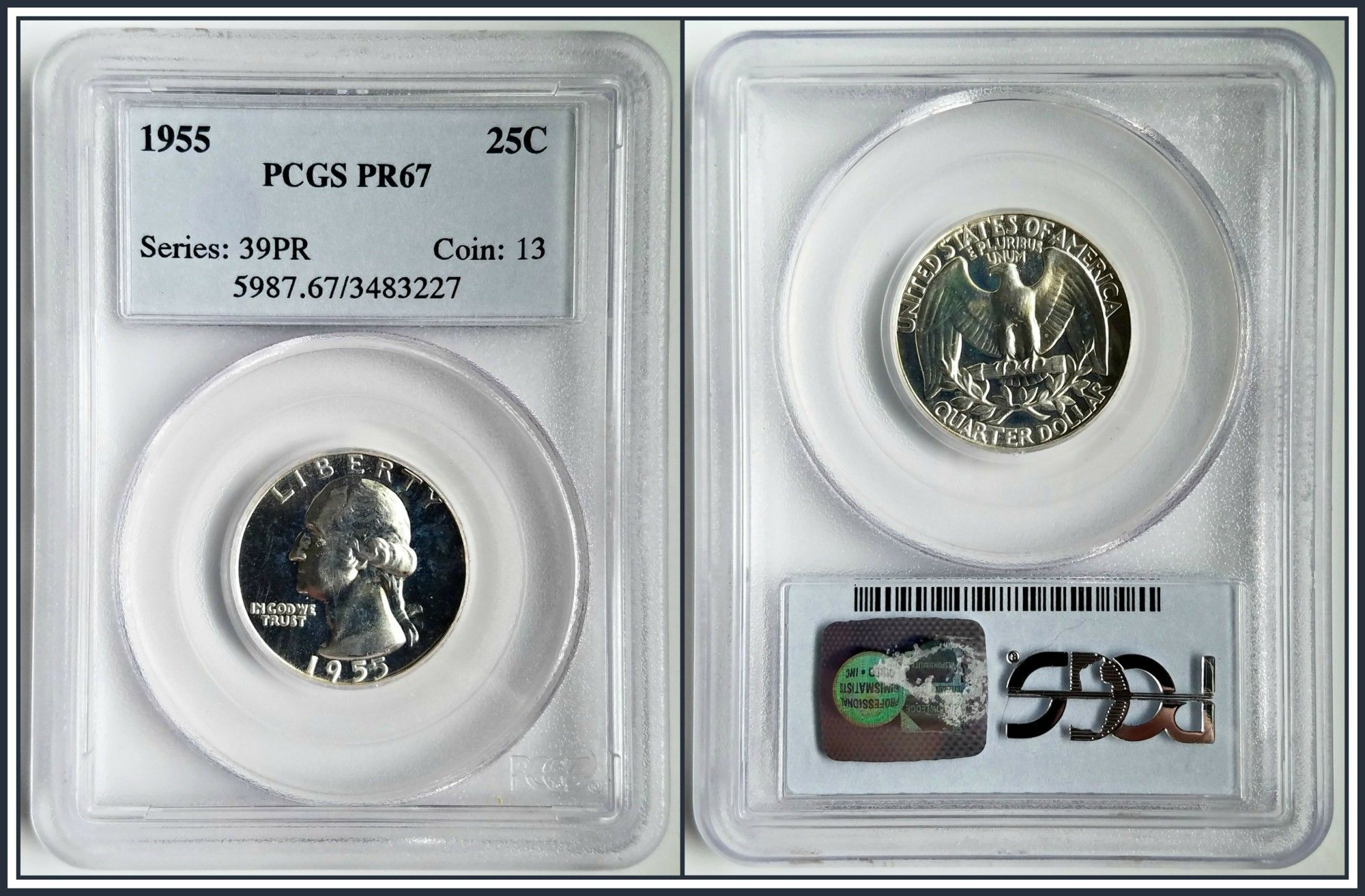 PR67RD 1964 RD LINCOLN PENNY PCGS GRADED 1C PROOF COIN LIBERTY US PR67 ONE CENT