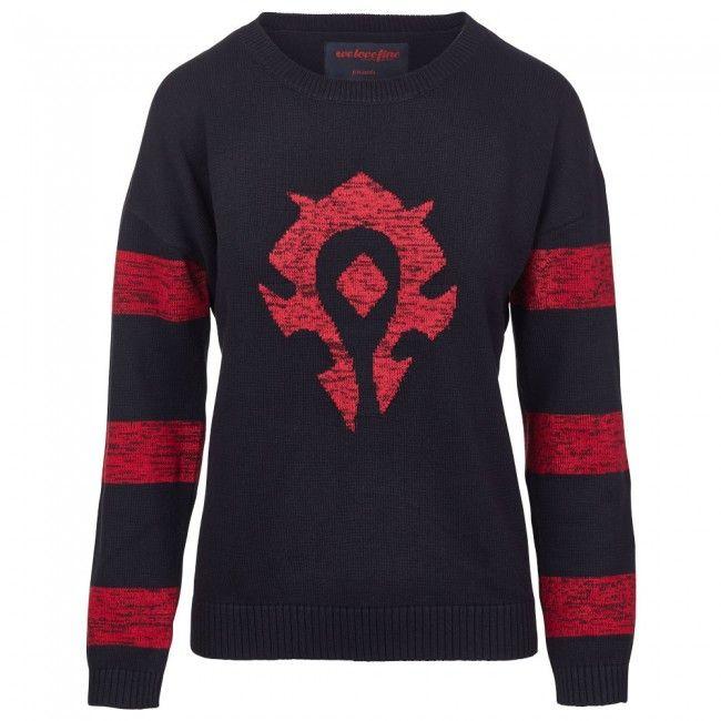 Warcraft Of Horde Striped World SweaterCraftsKnitting Knitted QeCBdEWxro