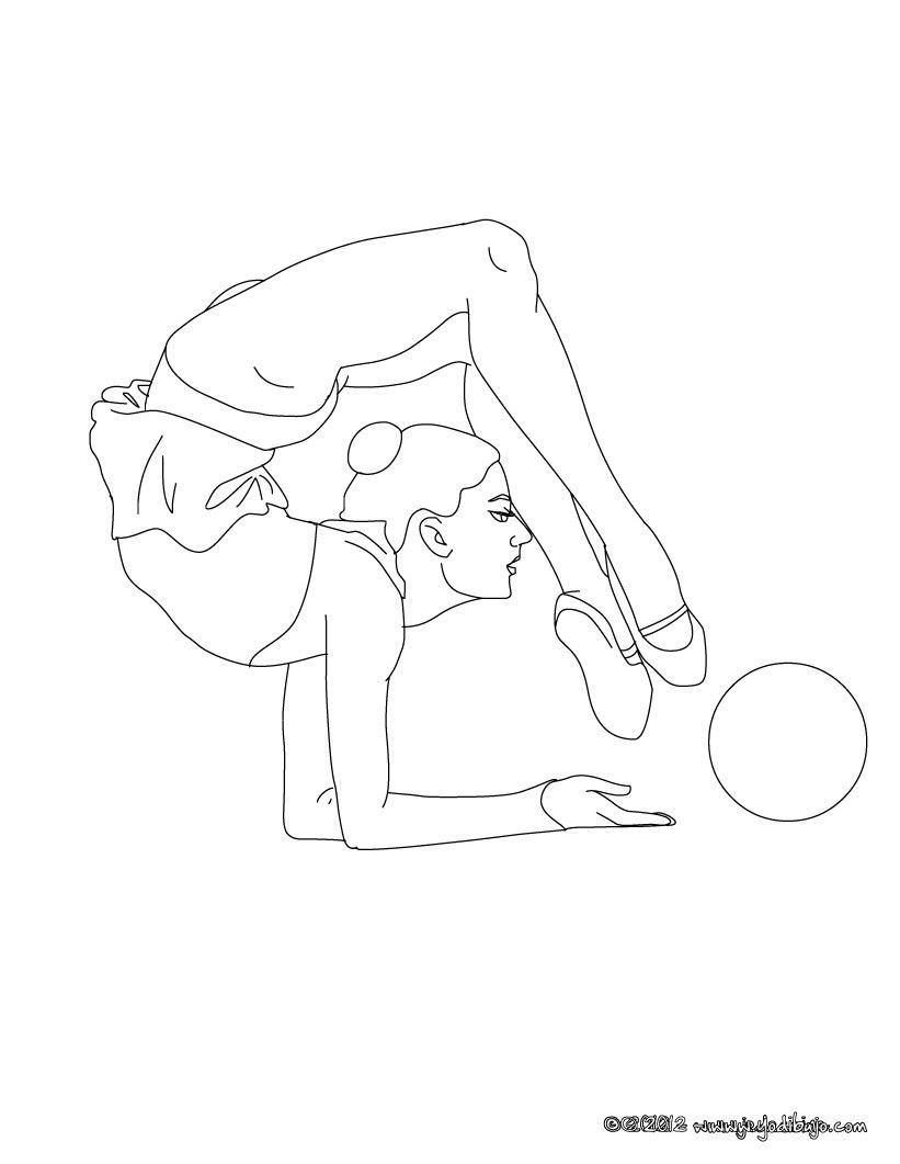 Excelente Amo La Gimnasia Para Colorear Elaboración - Dibujos Para ...