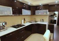 Kuchnia Wenge Polysk Blat Kremowy Kitchen Kitchen Cabinets Home