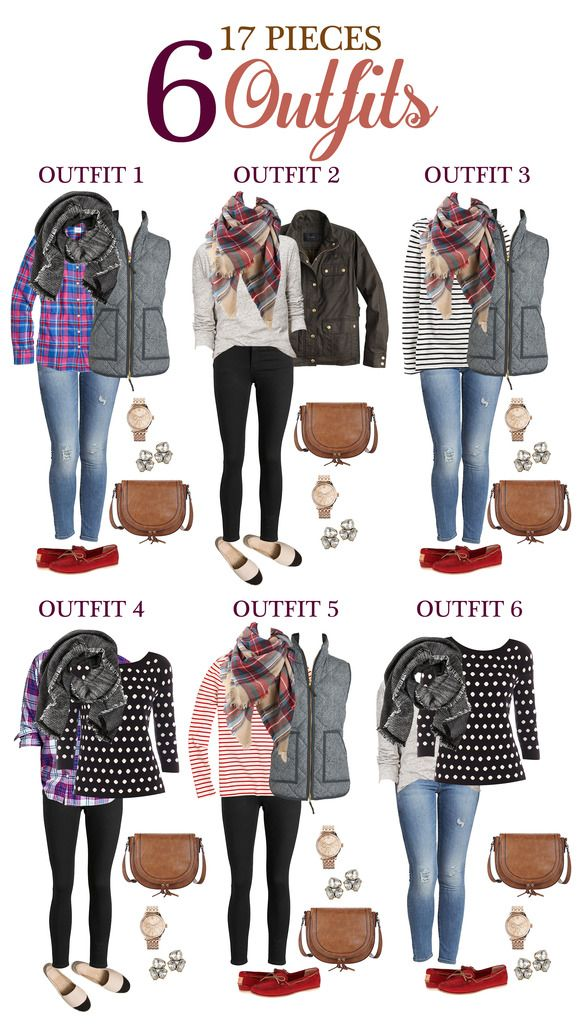 Five Day Getaway Fall Packing List 17 Pieces 6 Outfits