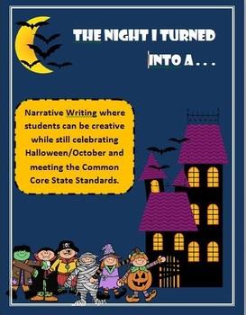 K-2 October/Halloween Narrative Writing with ELA Common Core