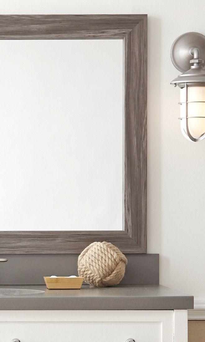 Get coastal chic in the bathroom - add a MirrorMate frame in Montauk ...