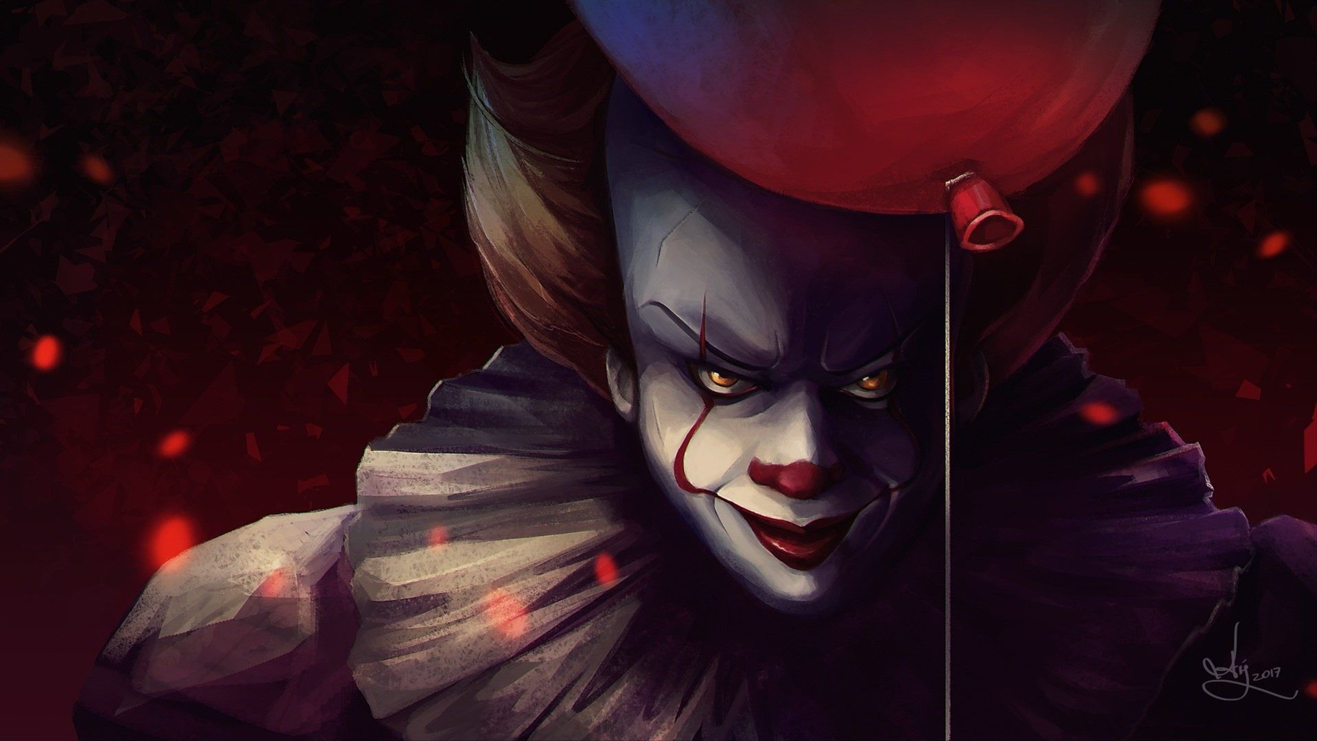Movie It 2017 Balloon Clown Pennywise It 1080p Wallpaper Hdwallpaper Desktop Pennywise The Dancing Clown Pennywise Pennywise The Clown