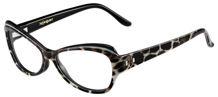 4b335efdae8 Lunettes de vue pour femme en acétate Yves Saint Laurent YSL-6369 de  couleur écaille.