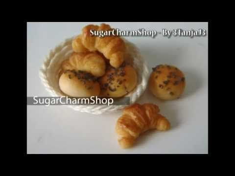 Miniature Croissants and Breakfast Buns Polymer Clay Tutorial