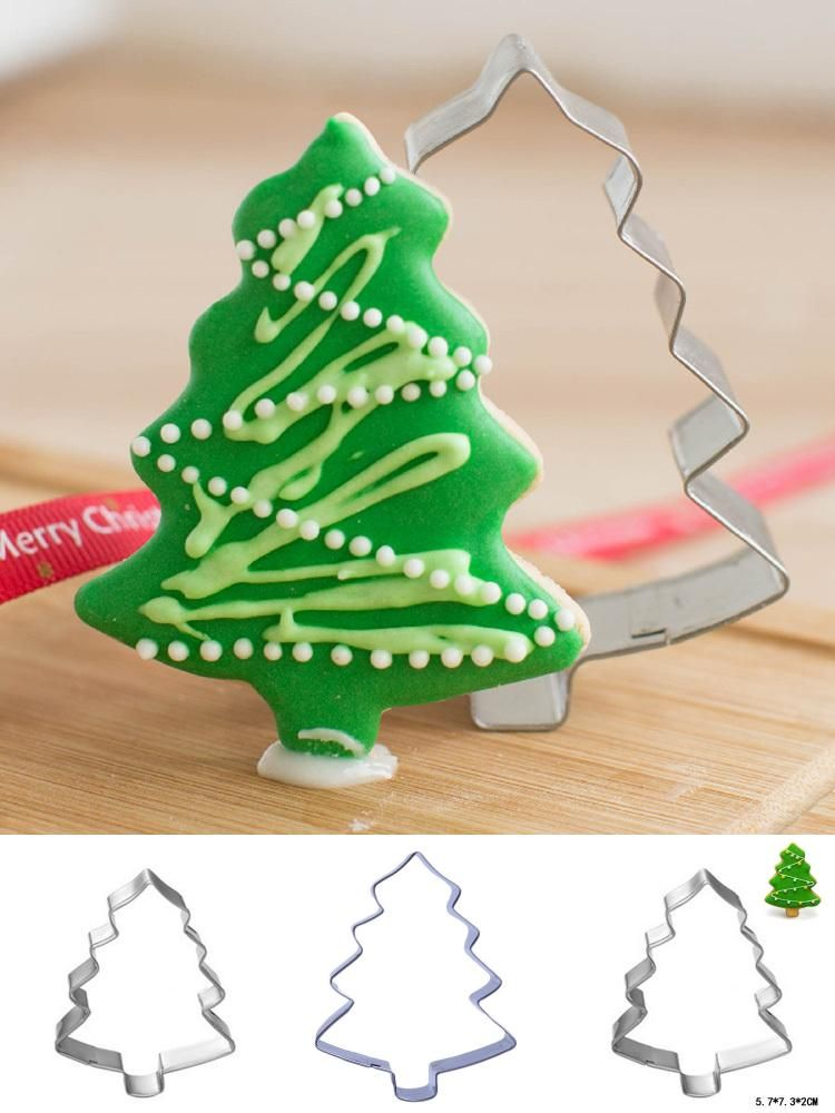Visit To Buy Christmas Tree Shaped Aluminium Mold Buscuit Tools Cookie Cake Mold Jell Christmas Tree Cookies Tree Shaped Cookies Christmas Tree Cookie Cutter