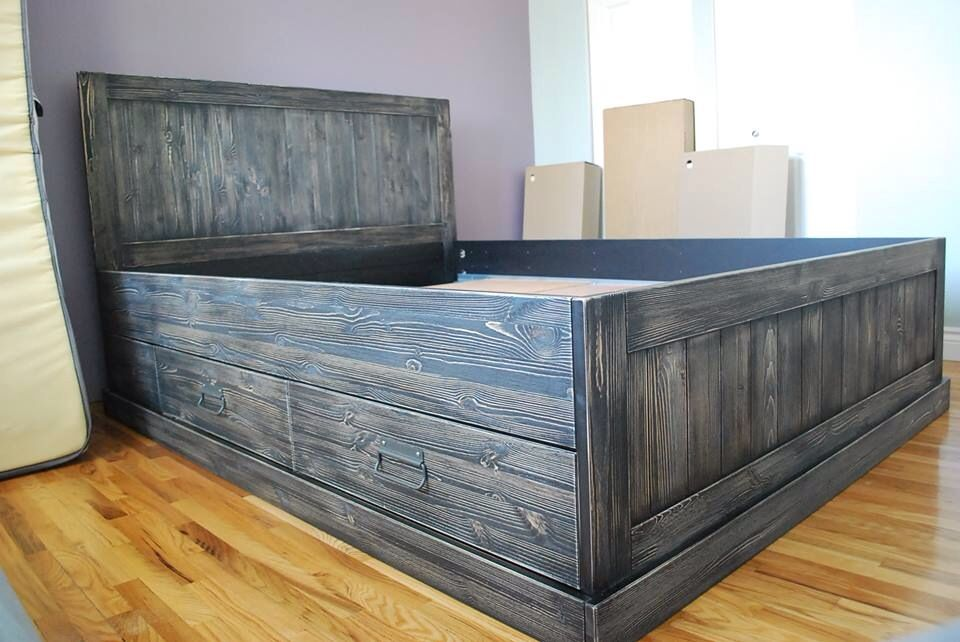 Pin By Ashley Heavener On New Bedroom Set Ikea Fjell Bed Ikea Fjell Furniture Makeover