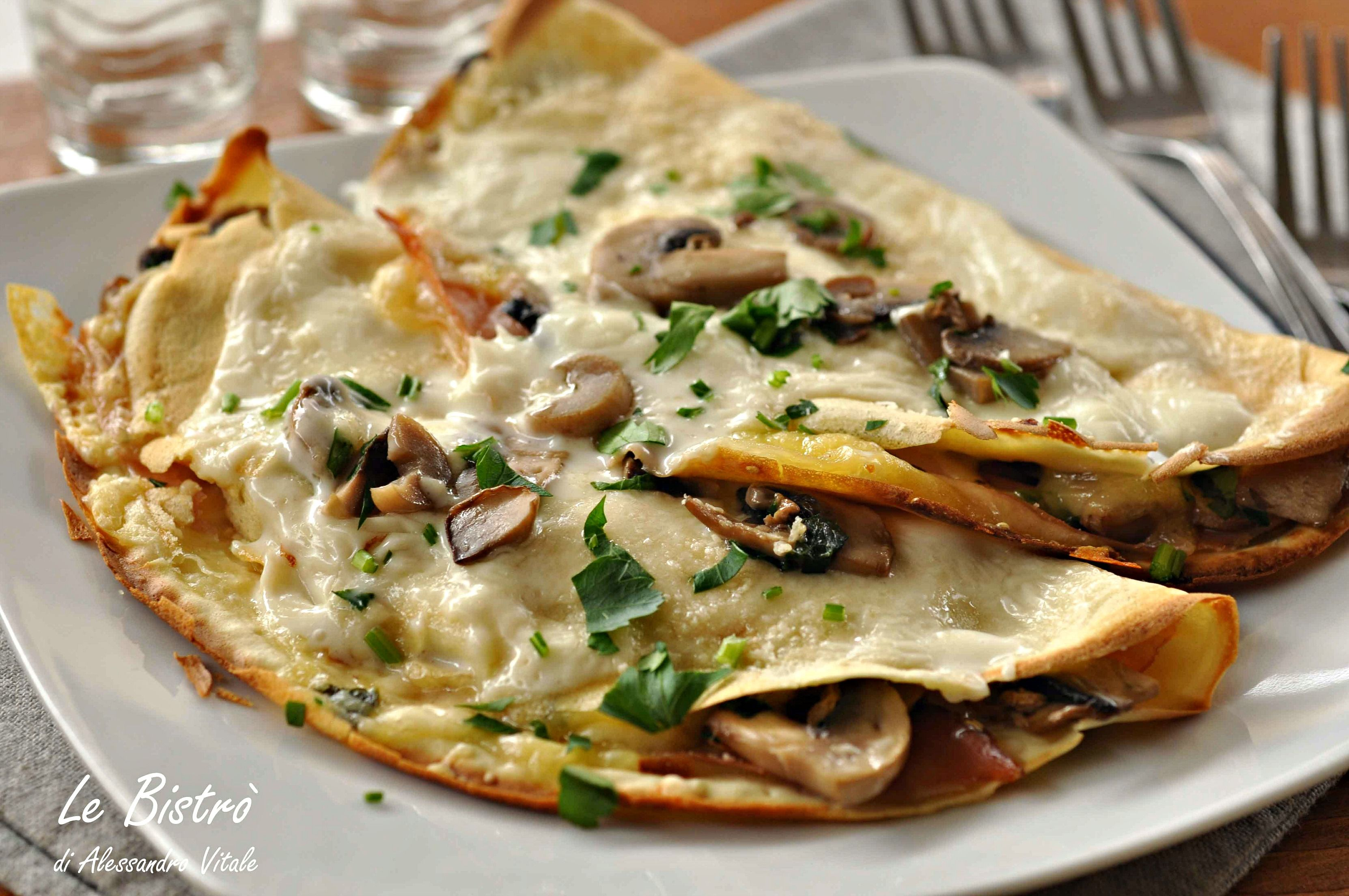 Crepes Salate Con Speck E Funghi Crepes Pasta And Food