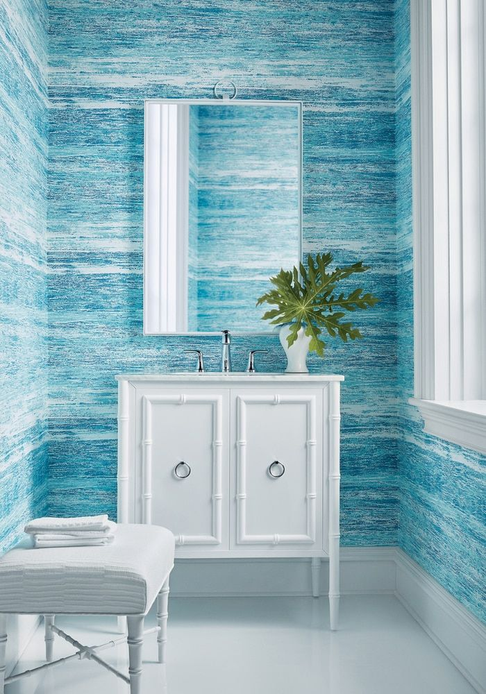 HORIZON TURQUOISE in 2020 Bathroom wallpaper trends