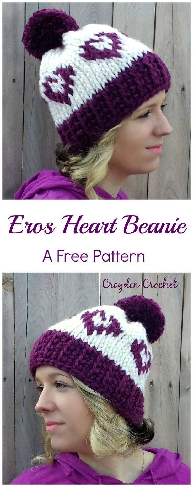 Eros Heart Beanie | Tunisian crochet patterns, Tunisian crochet and ...