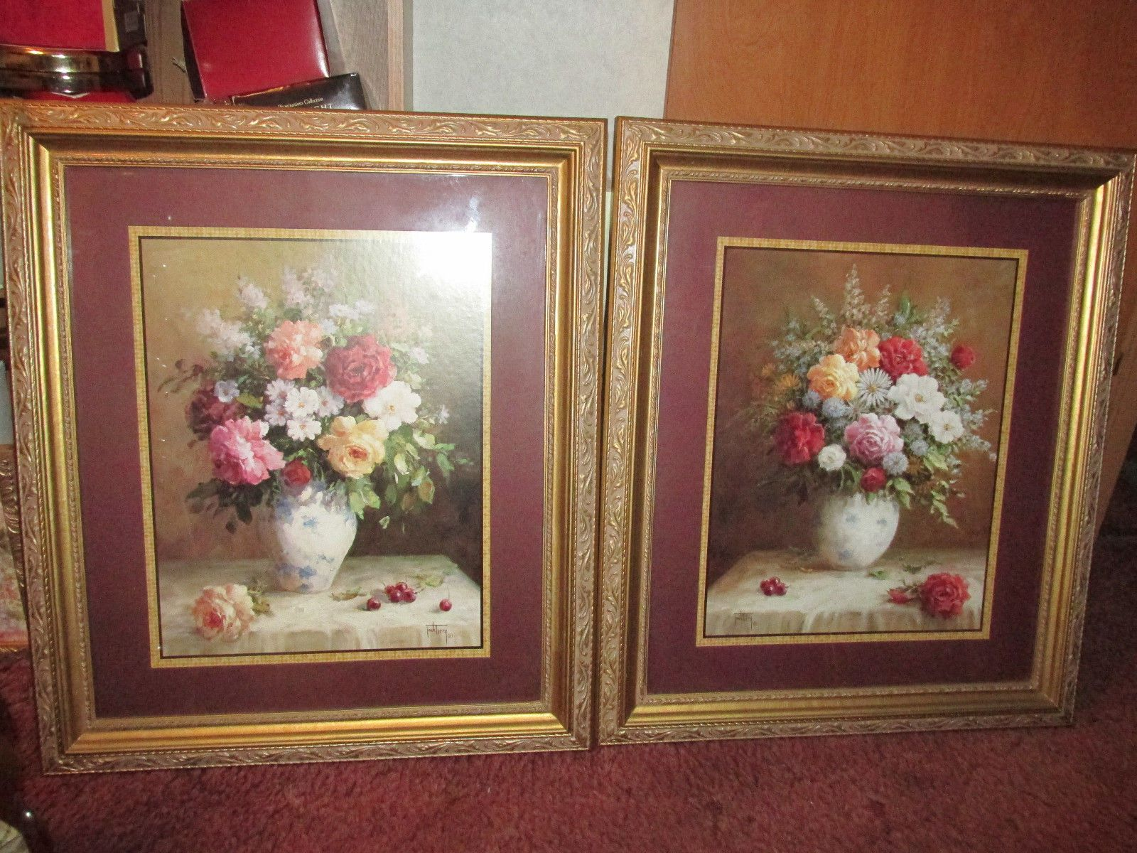 Two Home Interiors Beautiful Floral Pictures By Jack Terry 24 X28 Ebay Home Interiors And Gifts House Interior Pictures For Sale