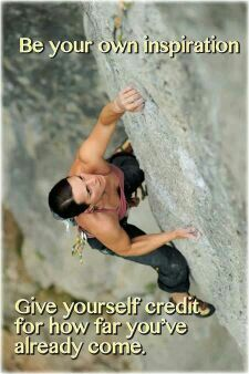 Give yourself credit.