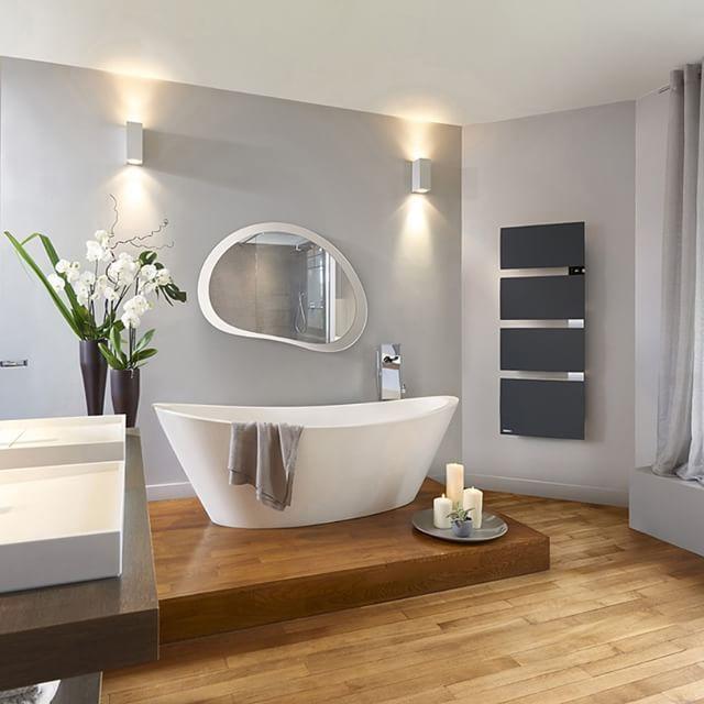 D�couvrez le s�che-serviettes Symphonik, gris roche ou gris ardoise, et profitez au quotidien d'une ambiance n�o classique dans votre salle de bains !  #ThermorFrance #ChaleurConnect�e #DonnerVieALaChaleur  #RadiateurConnect� #Design #Confort #BienEtre