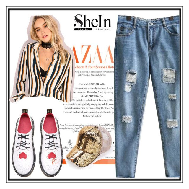 """""""shein"""" by samirasamka ❤ liked on Polyvore featuring WithChic"""