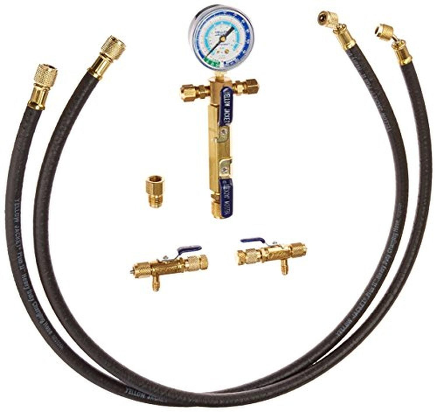 "Yellow Jacket 93865 1/2"" Evacuation System I 2 Valve Manifold, 2 16248 48"" Vacuum Hoses, 2 Valves - Brought to you by Avarsha.com"